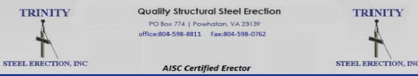 Steel,Trinity, erection, AISC